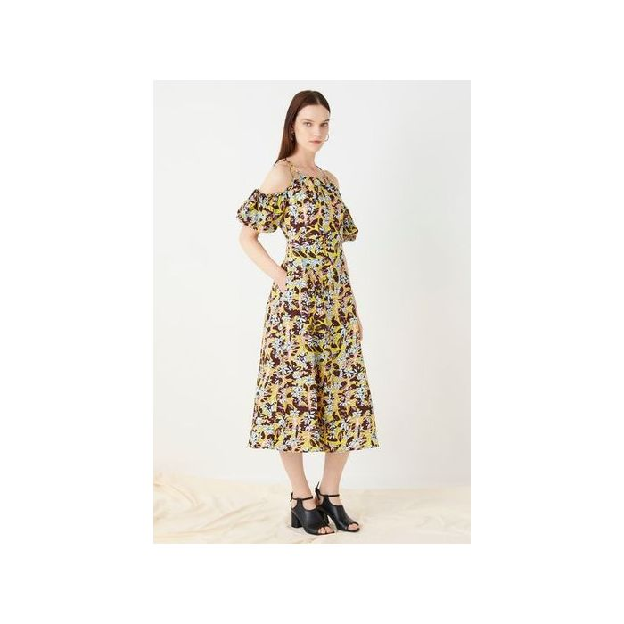 Image for Essendine Printed Linen Dress  - Multi