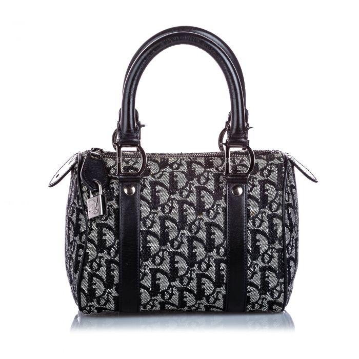 Image for Vintage Dior Dior Oblique Canvas Boston Bag Gray