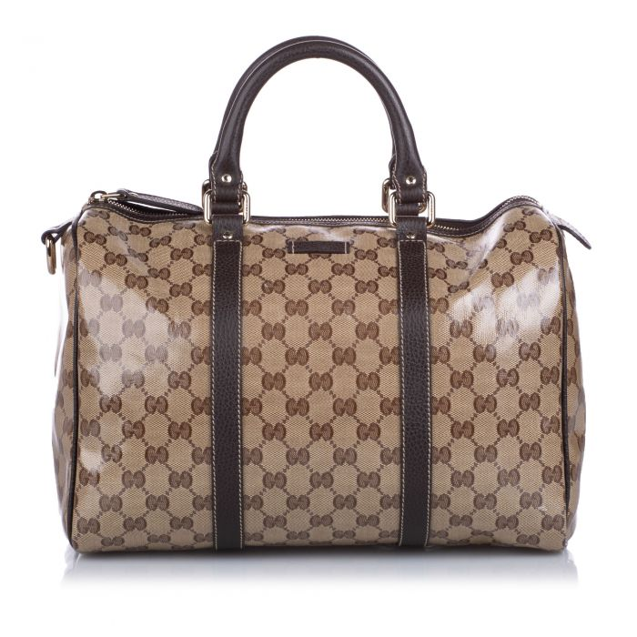 Image for Vintage Gucci GG Crystal Boston Bag Brown