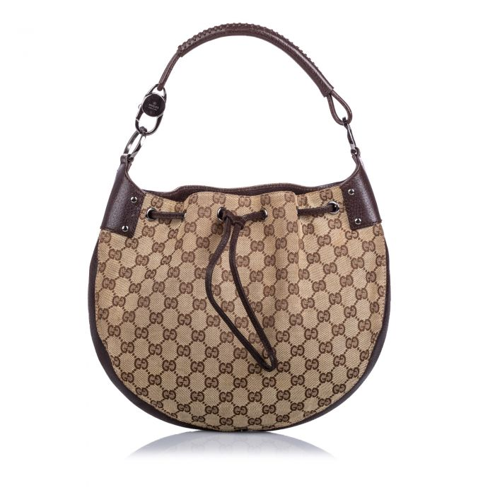 Image for Vintage Gucci GG Canvas Hobo Bag Brown