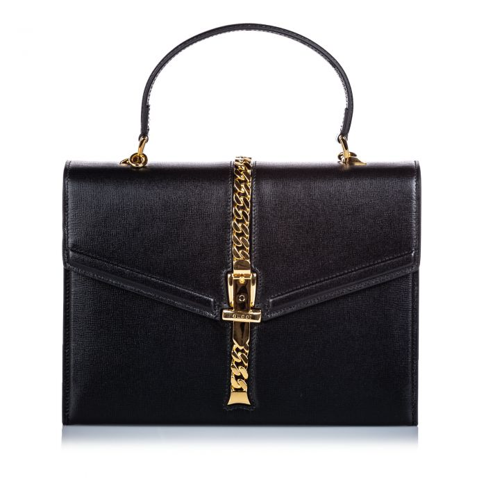 Image for Vintage Gucci Small Sylvie 1969 Satchel Black