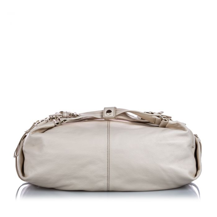 Image for Vintage Givenchy Leather Duffle Hobo White