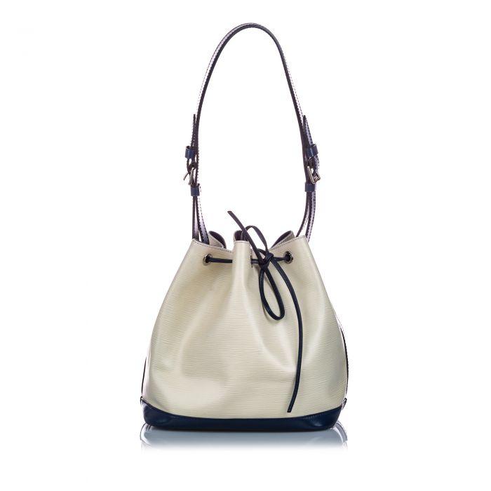 Image for Vintage Louis Vuitton Epi Bicolor Petit Noe White