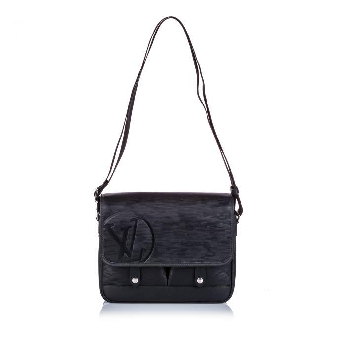 Image for Vintage Louis Vuitton Epi Messenger PM Black
