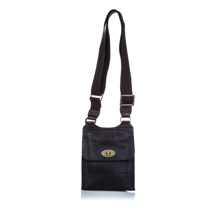 Image for Vintage Mulberry Antony Messenger Bag Black