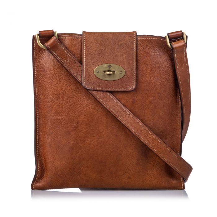 Image for Vintage Mulberry Leather Joel Crossbody Bag Brown