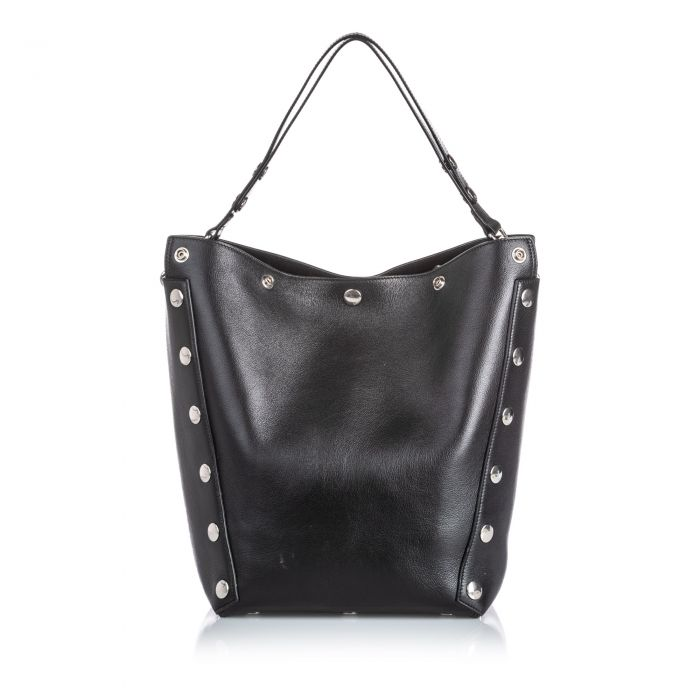 Image for Vintage Mulberry Studded Leather Camden Shoulder Bag Black