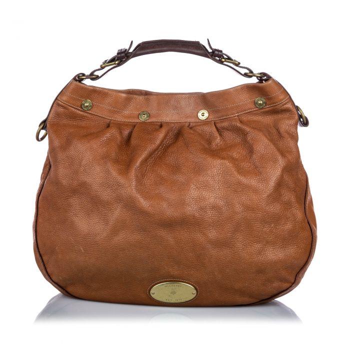 Image for Vintage Mulberry Leather Mitzy Shoulder Bag Brown