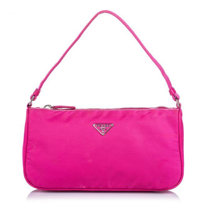 Image for Vintage Prada Tessuto Baguette Pink