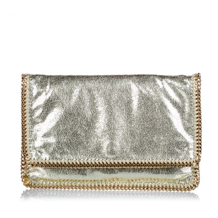 Image for Vintage Stella McCartney Shaggy Deer Falabella Clutch Gold
