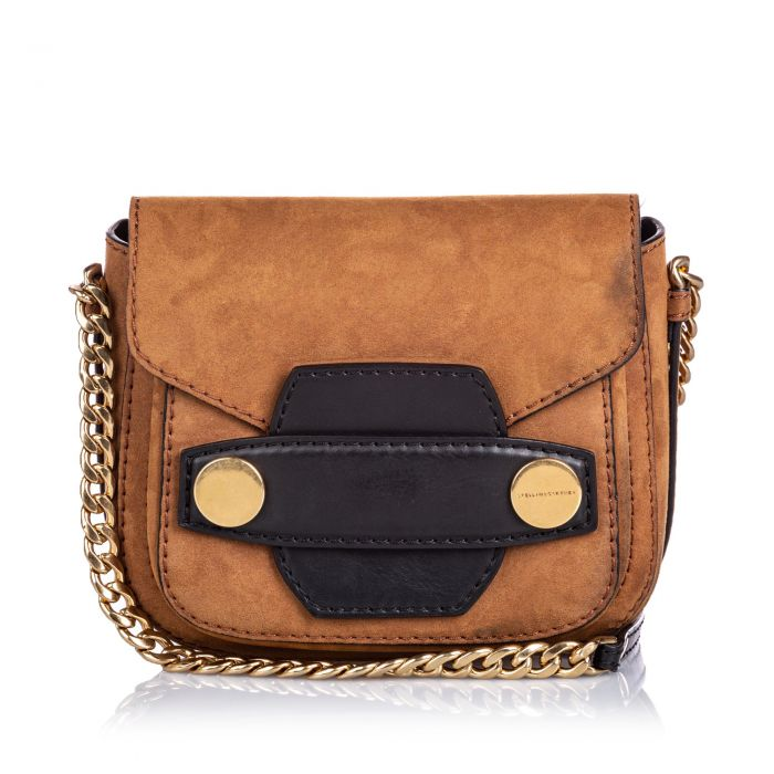 Image for Vintage Stella McCartney Small Popper Crossbody Bag Brown