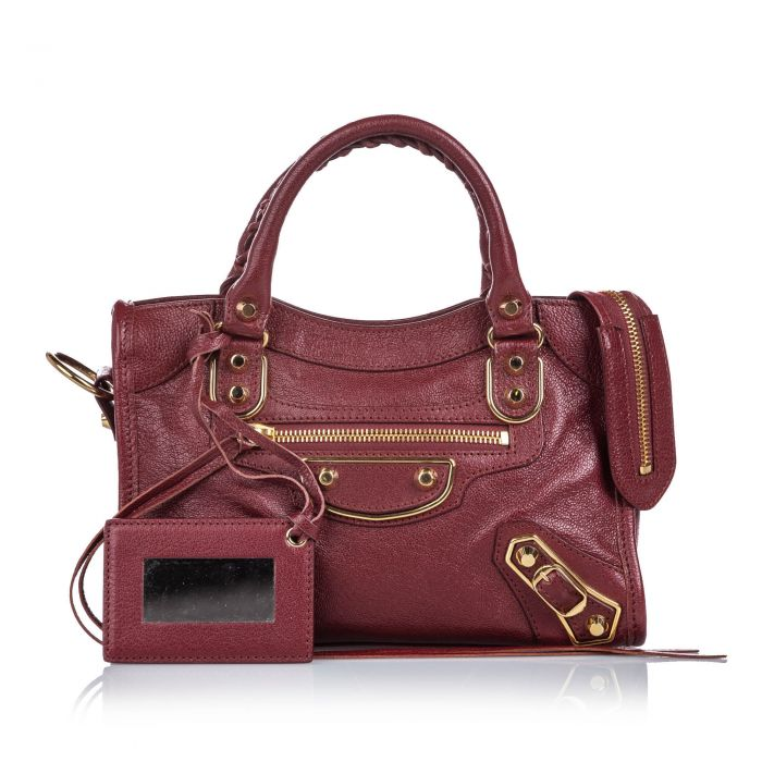 Image for Vintage Balenciaga Classic Metallic Edge Mini City Red