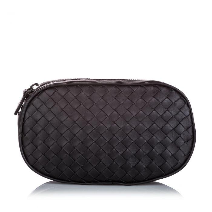 Image for Vintage Bottega Veneta Intrecciato Leather Belt Bag Black
