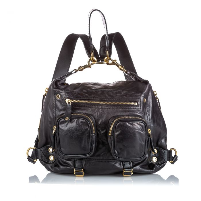 Image for Vintage Gucci Leather Darwin Convertible Backpack Black