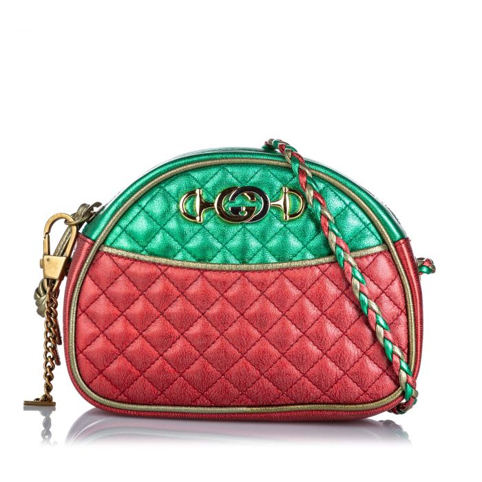 Image for Vintage Gucci Mini Trapuntata Bag Red