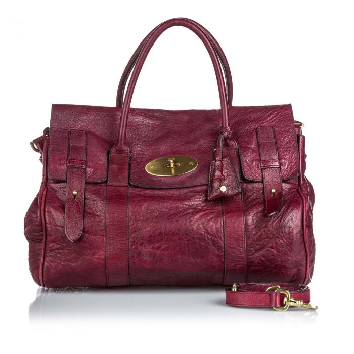 Image for Vintage Mulberry Leather Bayswater Satchel Red