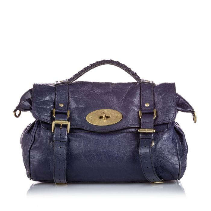 Image for Vintage Mulberry Leather Alexa Satchel Blue