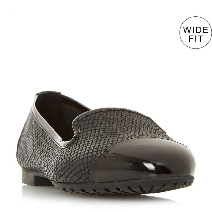 Image for Dune Ladies GENEVENE Slip On Trim Detail Flat Shoe