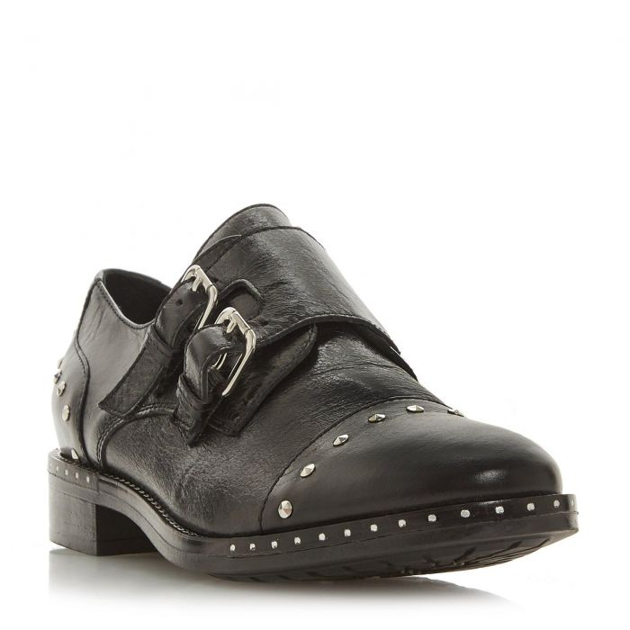 Image for Dune Ladies GRYFFIN Studded Toecap Double Strap Monk Shoe