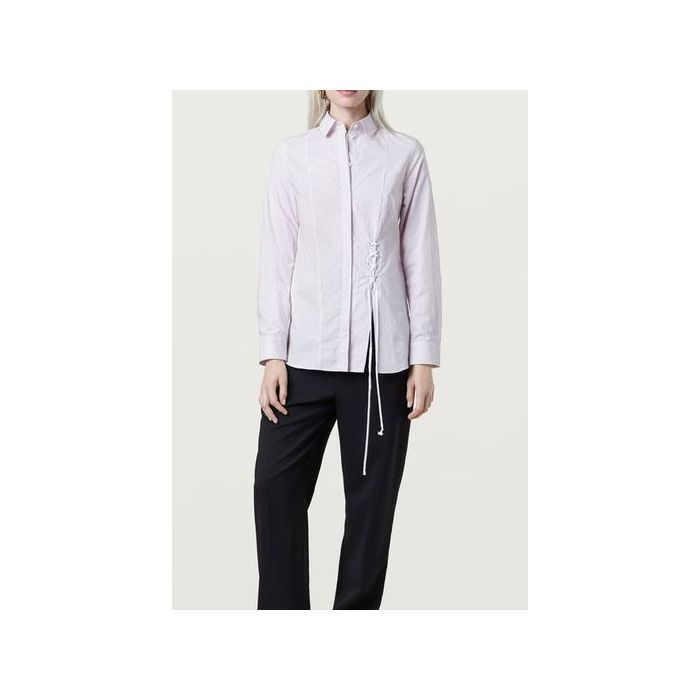 Image for Grainger Pink And White Striped Shirt - multicolour