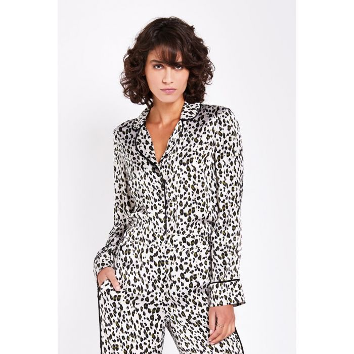 Image for Robyn Animal Print Satin Blouse