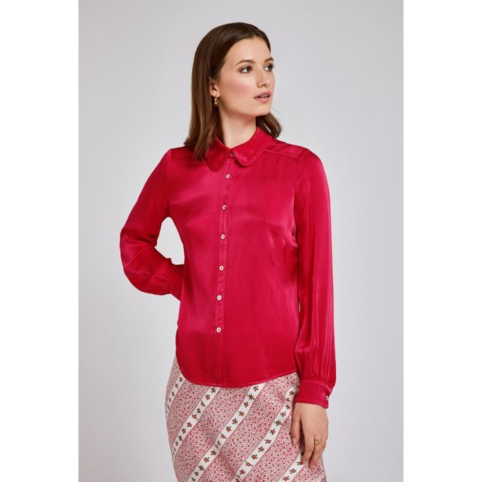 Image for Daisy Coral Satin Shirt