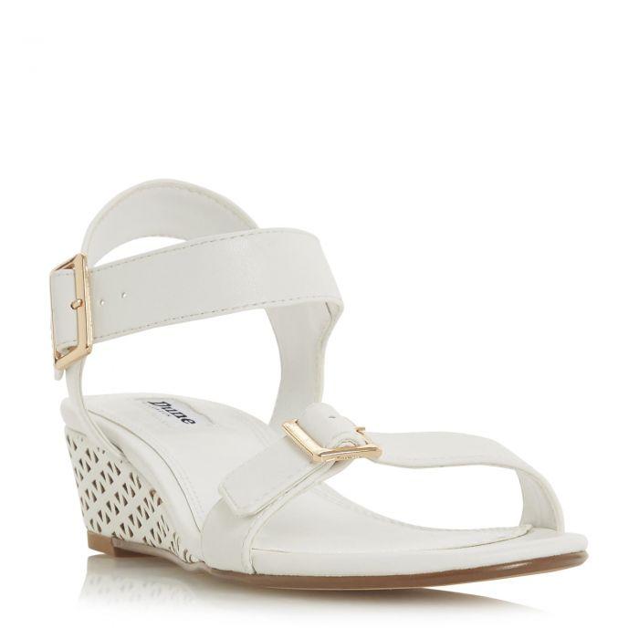 Image for Dune Ladies KARINAA Mid Wedge Heel Double Buckle Sandal