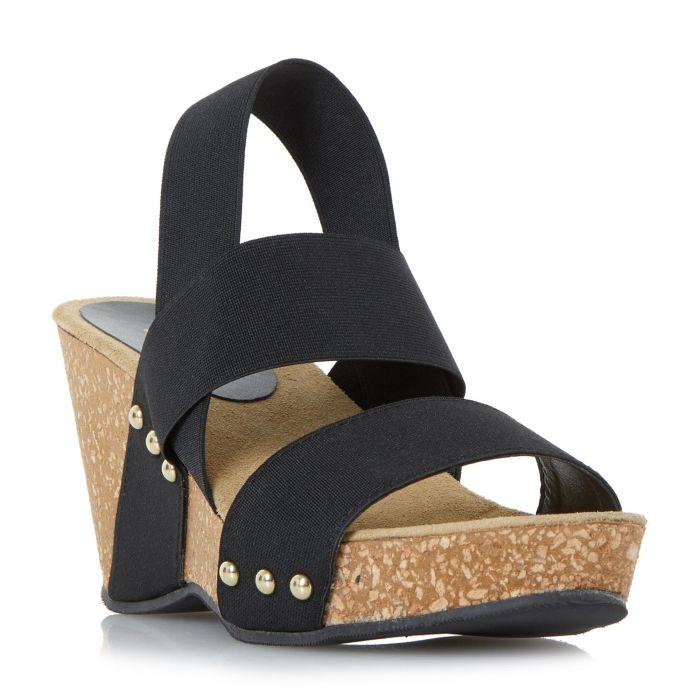 Image for Dune Ladies KASSII Cork Wedge Studded Mule Sandal