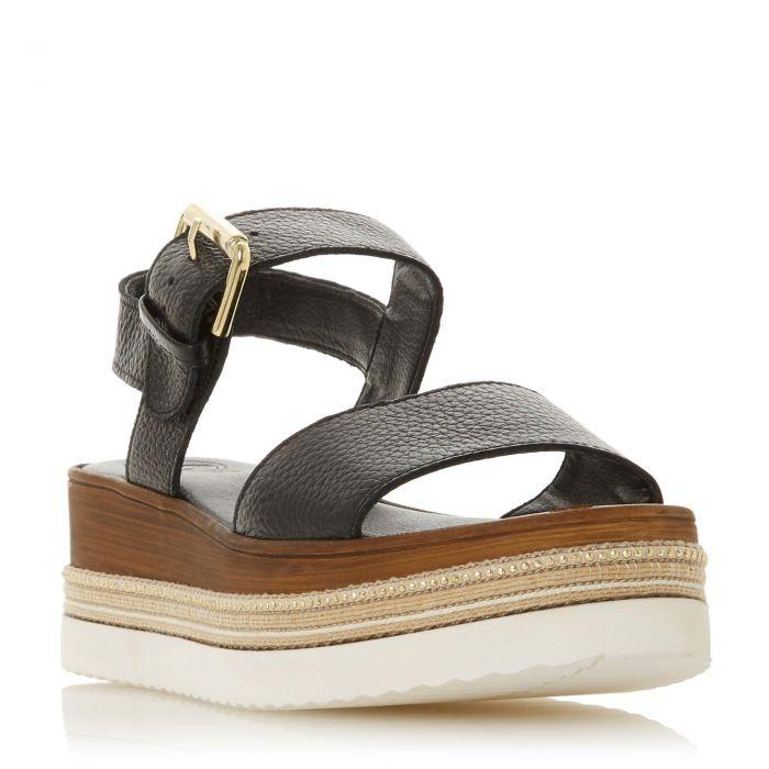Image for Dune Ladies KAZE Leather Flatform Sandal