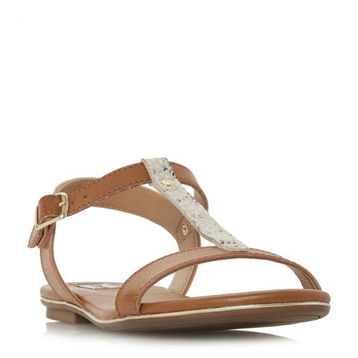 Image for Dune Ladies LADDER Cross Strap Flat Sandal