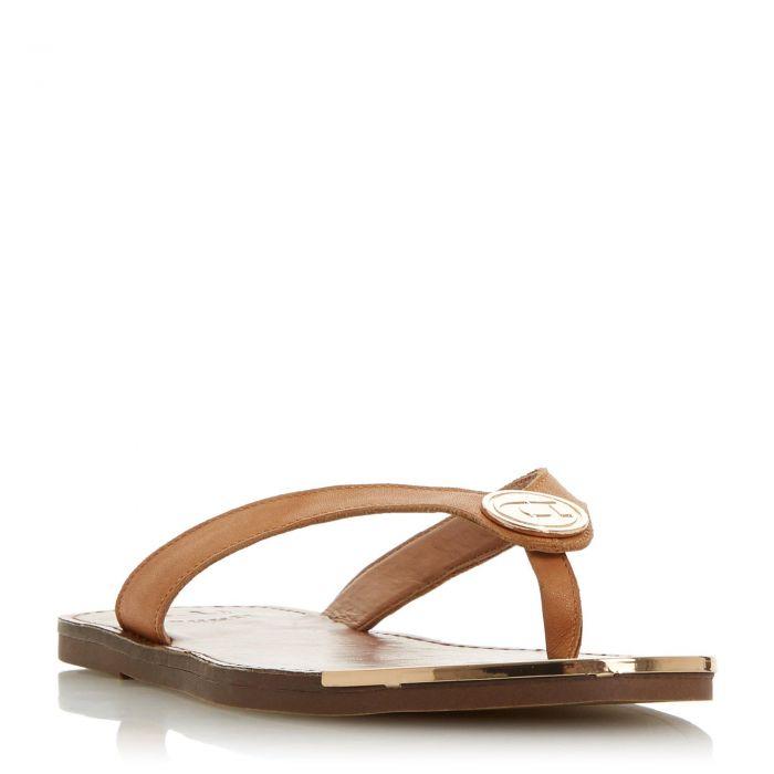 Image for Dune Ladies LAGOONS Metal Trim Toe Post Sandal