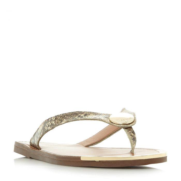 Image for Dune Ladies LAGOS Metal Disc Trim Toe Post Sandal