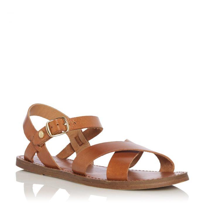 Image for Dune Ladies LAVELL Cross Strap Flat Sandal