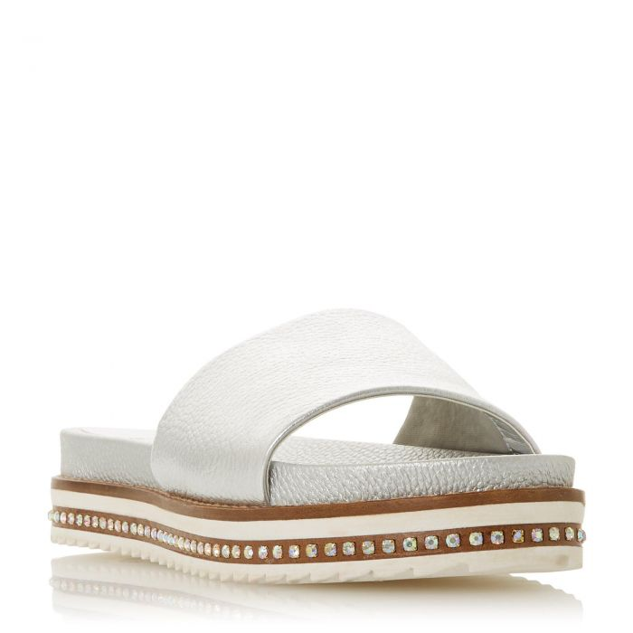 Image for Dune Ladies LAYERS JL Studded Sole Slider Sandal