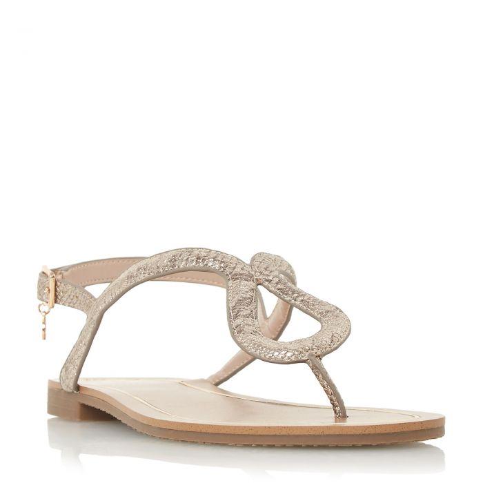 Image for Dune Ladies LINQ Loop Toe-Post Flat Sandal