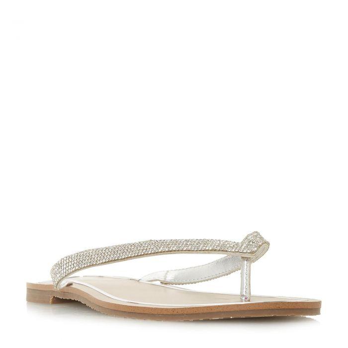 Image for Dune Ladies LOU-LOU Diamante Toe-Post Flat Sandal