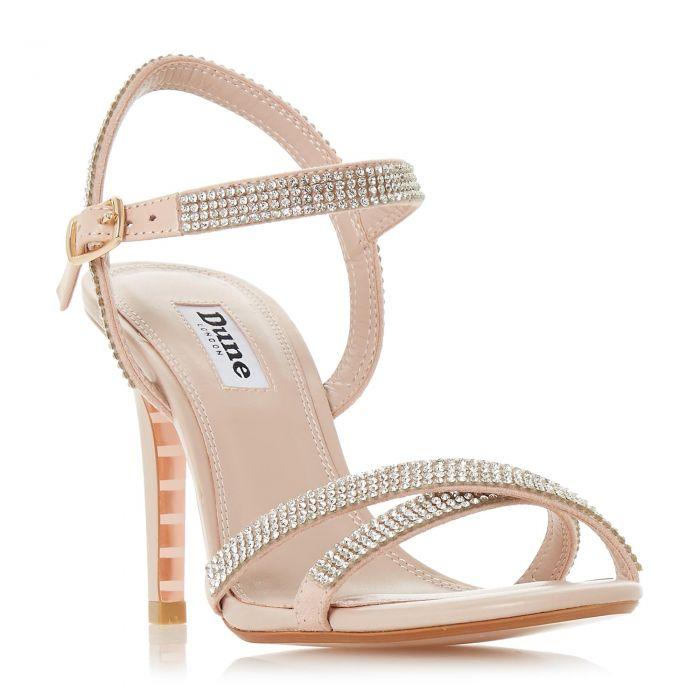 Image for Dune Ladies MADALENNA Cross Strap Mid Heel Sandal