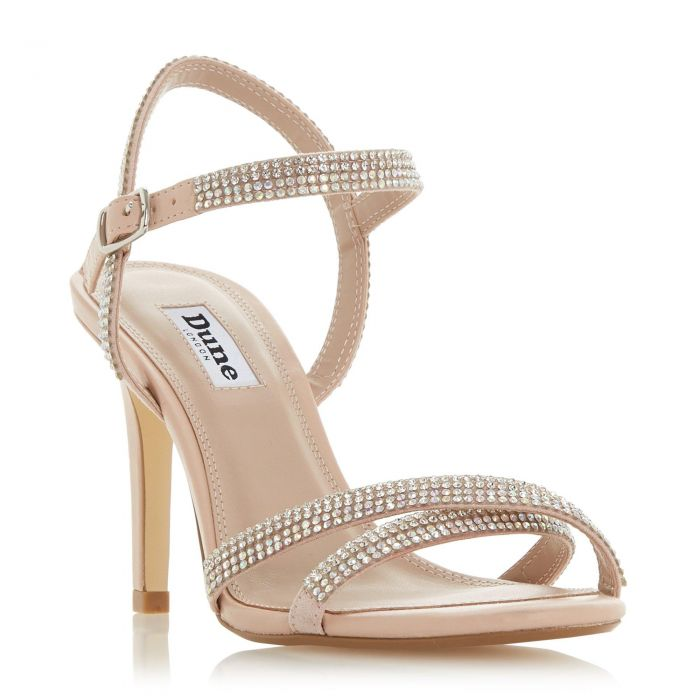 Image for Dune Ladies MAGDALENA Cross Strap Mid Heel Sandal