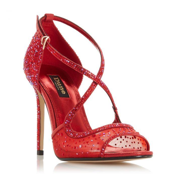 Image for Dune Ladies MARHKLES Crystal Embellished Cross Strap Sandal