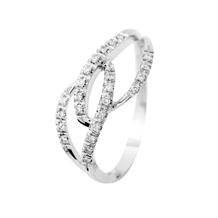 Image for White gold diamond ring