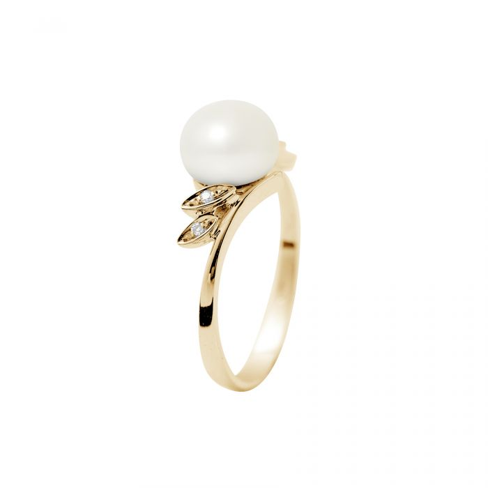 Image for Yellow gold freshwater pearl ring