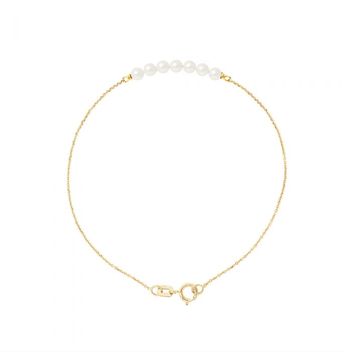Image for Yellow gold pearl bracelet