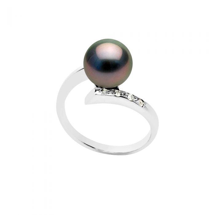 Image for DIADEMA - Ring - Diamond - Tahitian Pearl - White - White Gold