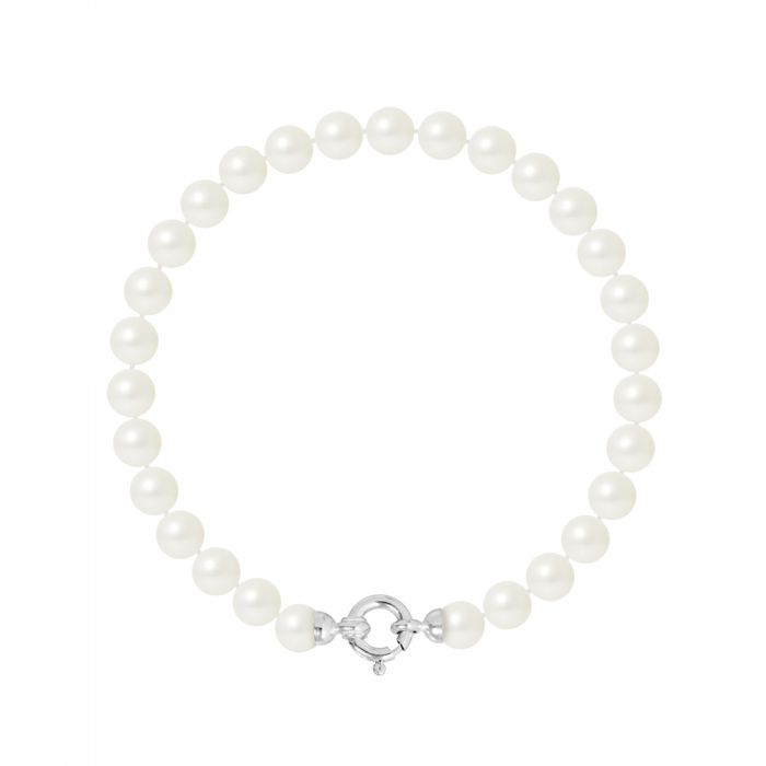 Image for White gold freshwater pearl bracelet