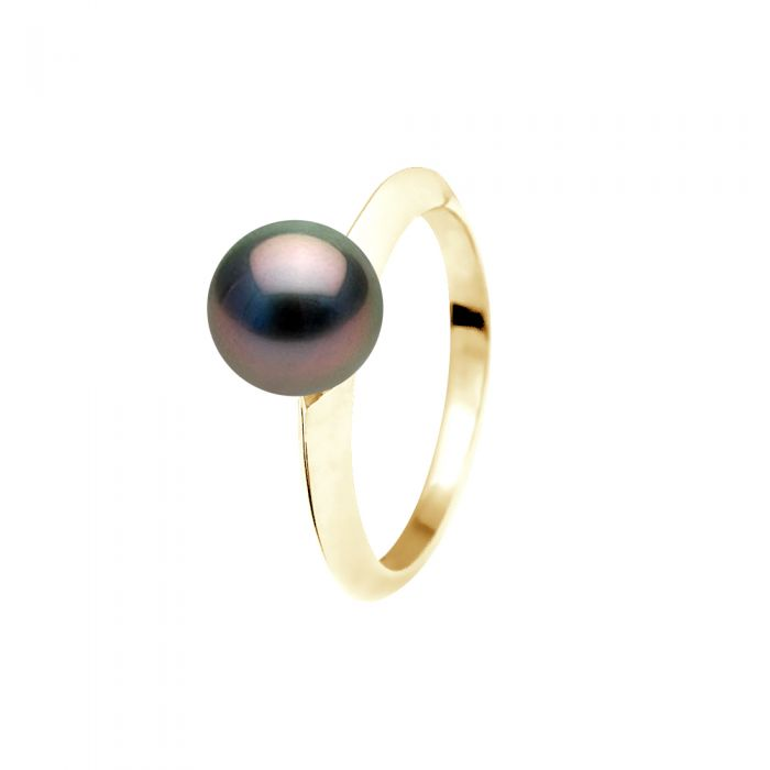 Image for DIADEMA - Ring - Tahitian Pearl - Yellow Gold