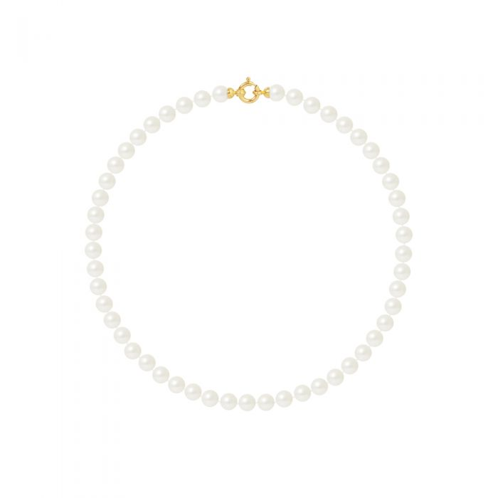 Image for Yellow gold freshwater pearl necklace