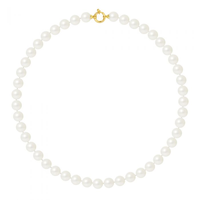 Image for DIADEMA - Necklace - Real Freshwater Pearls - Yellow Gold
