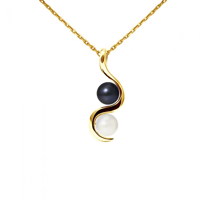 Image for Yellow gold pearl necklace