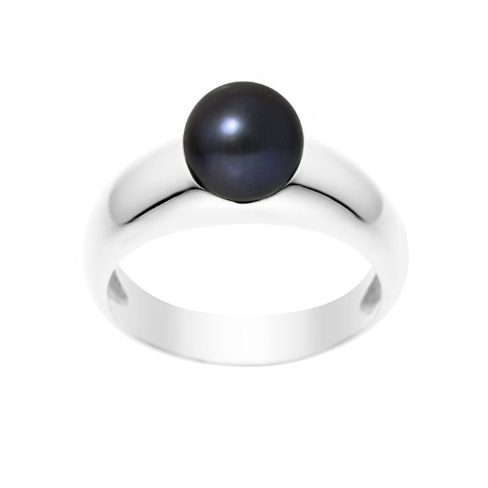 Image for Black freshwater pearl ring