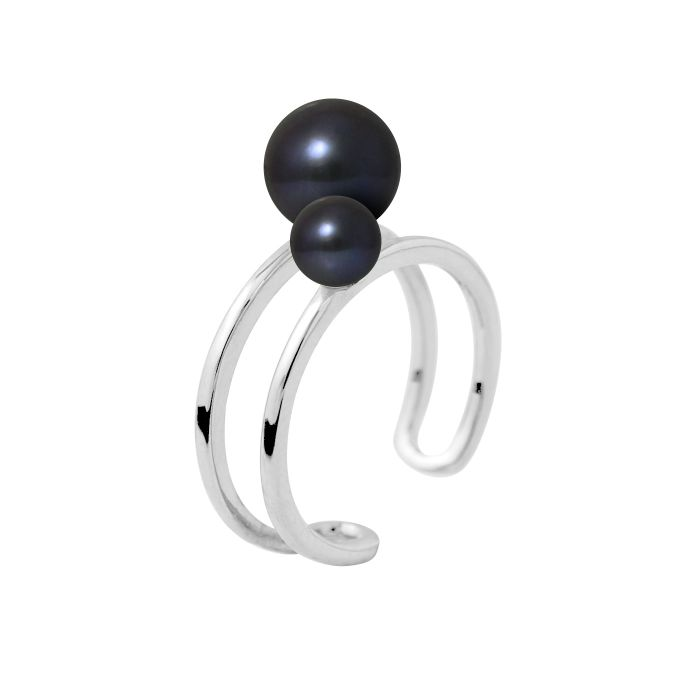 Image for 2pc Black fresh water pearl rings